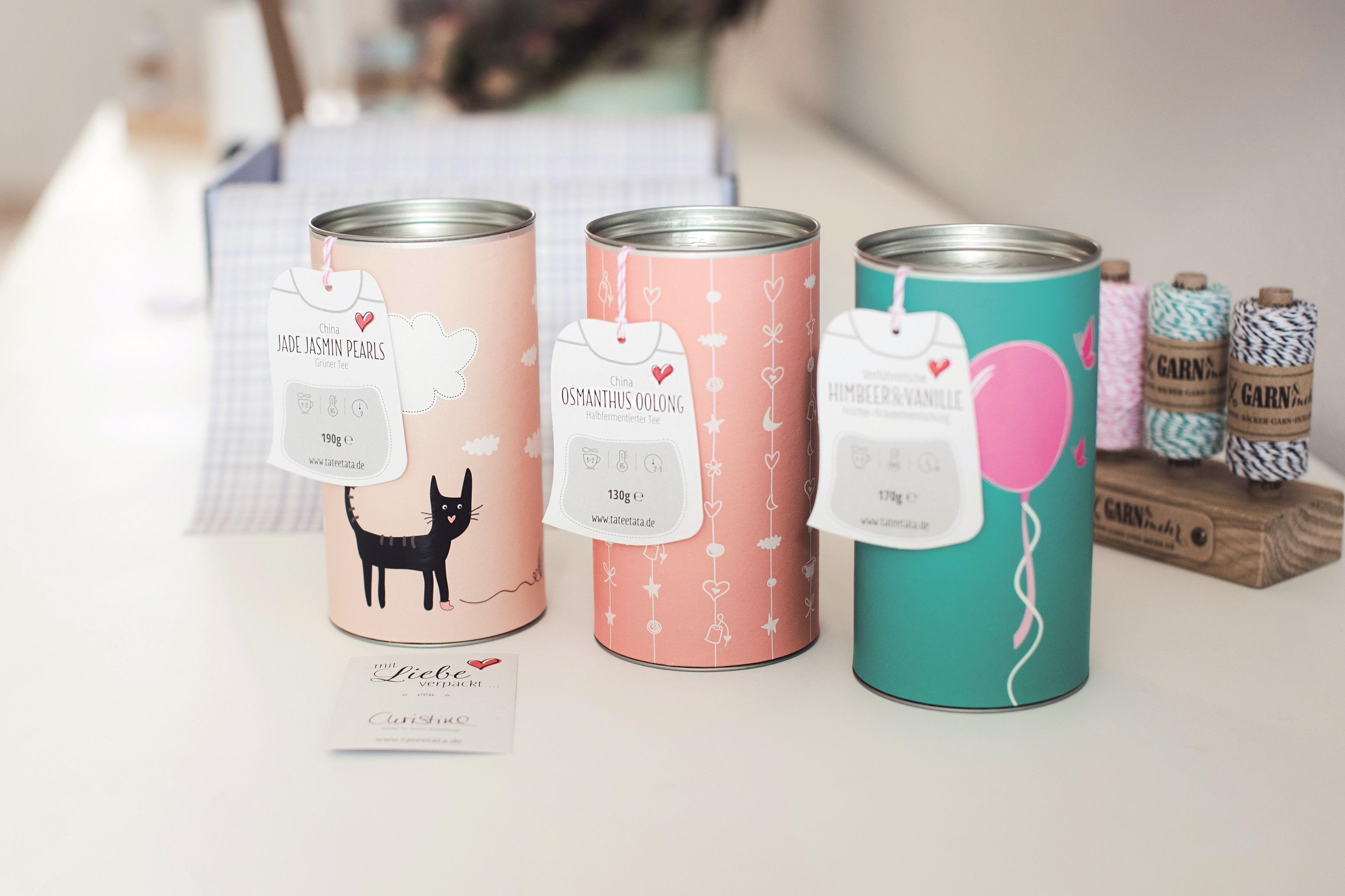 Die hübschen Tee-Geschenkdosen von TaTeeTaTa.