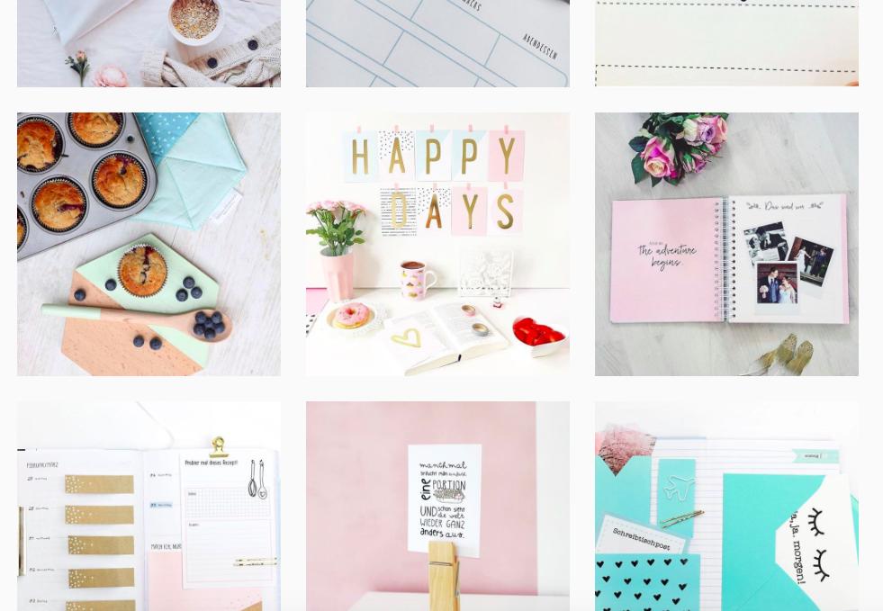 Instagram-Fotos im gleichen Stil