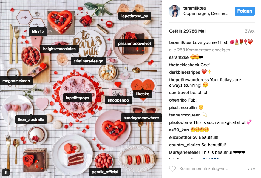 Instagram-Influencer: Verlinkung auf anderen Fotos