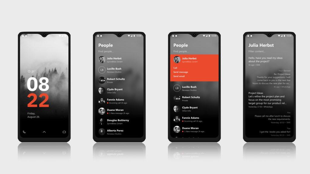 Benutzeroberfläche des Volla Phones